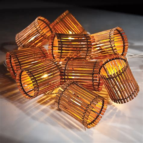 bamboo string lights essentials for a tiki themed summer kitchen and patio