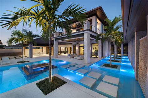 luxury homes in naples fl custom home in florida with swimming pool