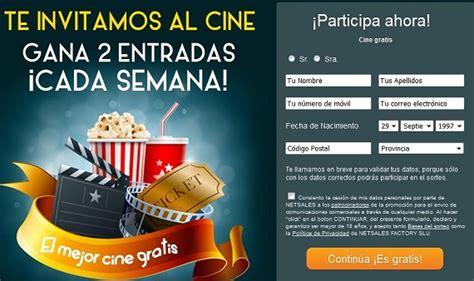 entradas cine online sorteo entradas de cine gratis concurso online