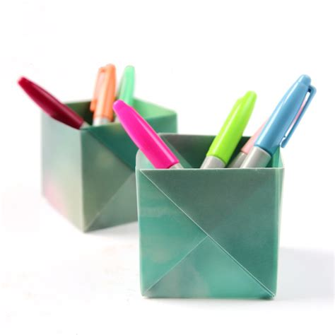 origami holder dress your desk in style with these origami pen holders