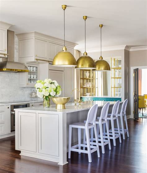 Paint Kitchen Island grey kitchen cabinets brass accents this or that cococozy