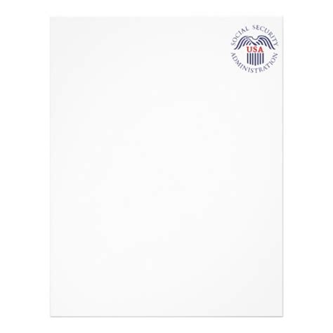 make your own social security card social security administration letterhead zazzle