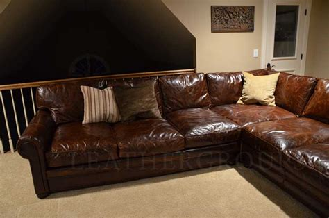 sectional sofa leather michael s langston leather sectional sofa the leather