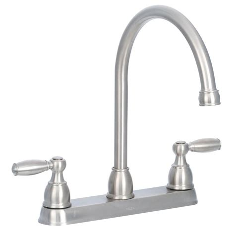 2 kitchen faucet delta cassidy 2 handle standard kitchen faucet with side sprayer in polished nickel 2497lf pn
