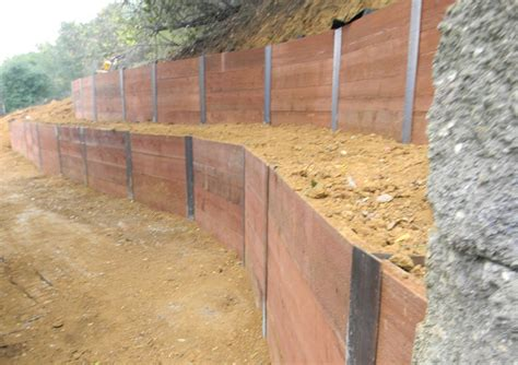 how to build a garden retaining wall how to build a retaining wall on a slope with sleepers