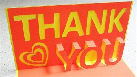 how to make pop up i you card thank you pop up card learn how to make a thankyou popup