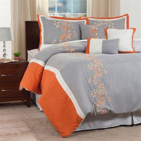 king size orange comforter set lavish home branches orange embroidered 7 king