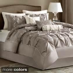 discount bedroom comforter sets park polyester solid tufted 7