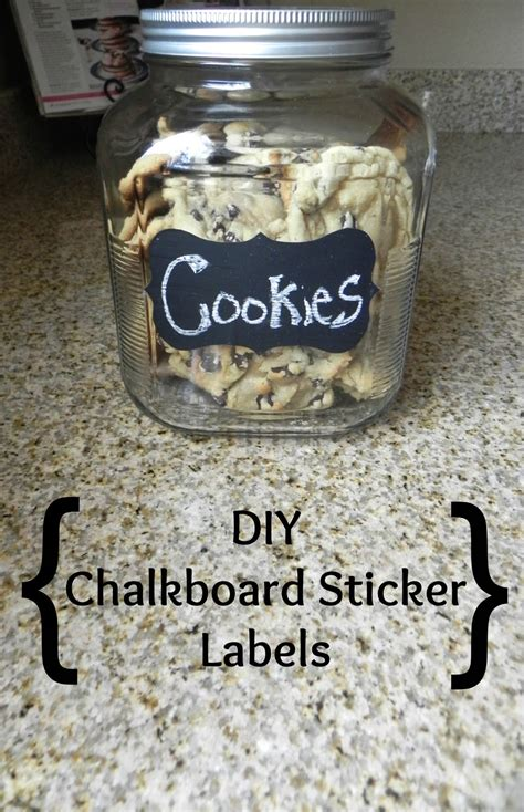 Diy Chalkboard Sticker Labels