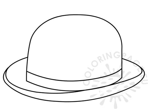 hat for bowler hat coloring page for kid coloring page