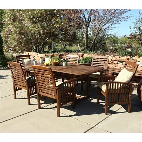 patio 7 dining set 7 acacia patio dining set in brown ow7sdb