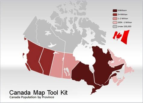 canada map template for powerpoint presentations