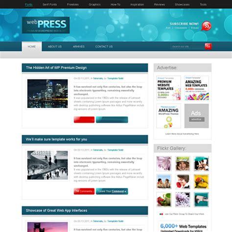 webpress css template web blog personal css