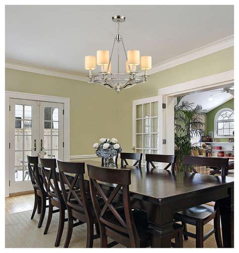 transitional chandeliers for dining room elk lighting 10167 6 easton polished nickel 6 light