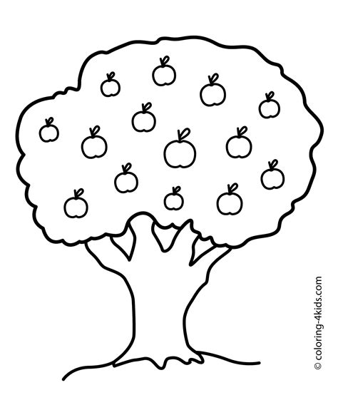 tree colouring in pages 26 tree coloring page to print print color craft