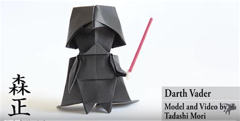 origami darth vader how to make an origami darth vader designtaxi