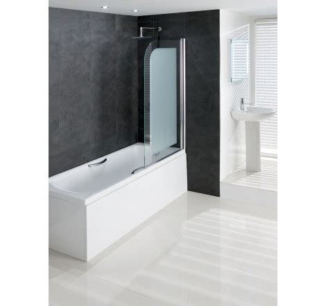 frosted bath shower screens volente 8mm frosted hinge bath shower screen easy clean