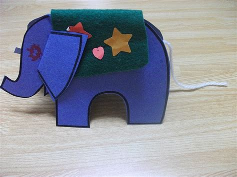 elephant paper craft paper elephant stand up craft preschool crafts for