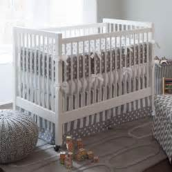 grey nursery bedding set gray and white dots and stripes crib bedding neutral
