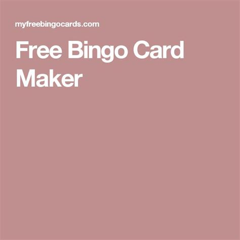 make free printable cards best 25 bingo card maker ideas on bingo maker