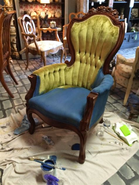 chalk paint upholstery maison decor how to paint velvet chairs with chalk paint