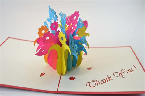 how to make pop up thank you cards 3d cards thank you card flower box card pop up card 3d
