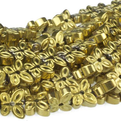 gold hematite hematite gold plated 6mm butterfly