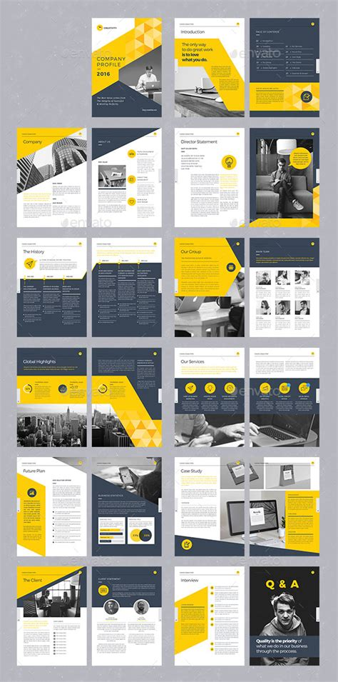 company idea 20 modern style brochure catalogue template design