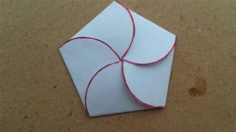envelope crafts for how to make a closed flower petals envelope diy crafts