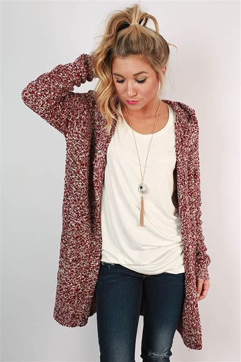 how to wear a knitted cardigan pumpkin spice cuddles cardigan in cabernet pumpkins