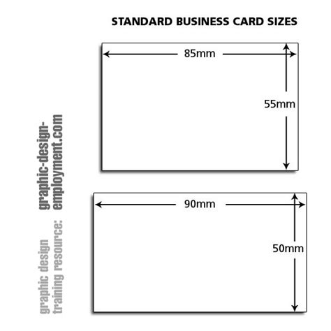 card sizes for card business card standard sizes
