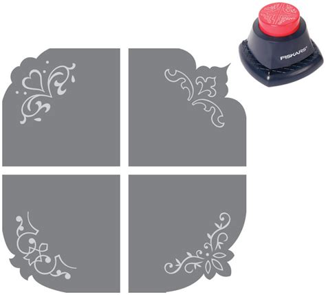 corner punches for card 4 in 1 embossing corner punch elegance crafting