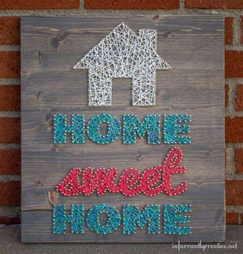 arts and crafts ideas for at home 40 insanely creative string projects diy projects