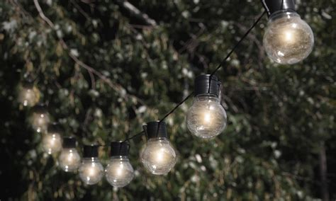 solar powered string lights nitebulbs solar powered outdoor string lights groupon