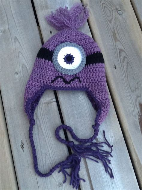free knitted minion hat pattern 17 best images about crochet hats minions purple on
