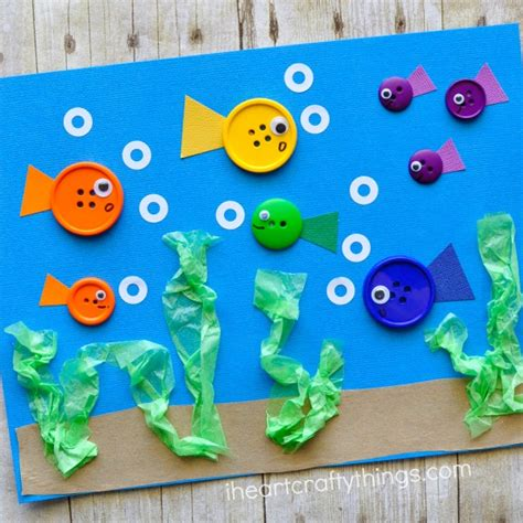 fish craft for simple button fish craft for i crafty things