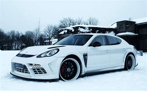 Car Wallpaper Snow by View Of White Porsche In Snow Wallpaper Hd Car Wallpapers
