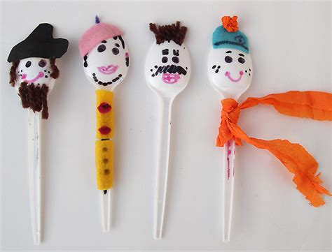 puppet craft for spoon puppets the winter craft for