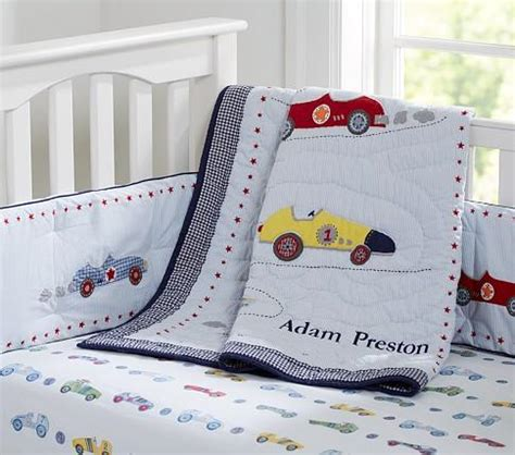 car crib bedding roadster nursery bedding pottery barn