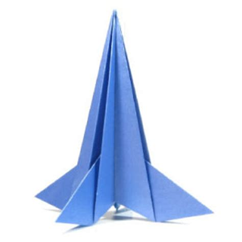 origami rocket ship how to make a 3d origami rocket page 1