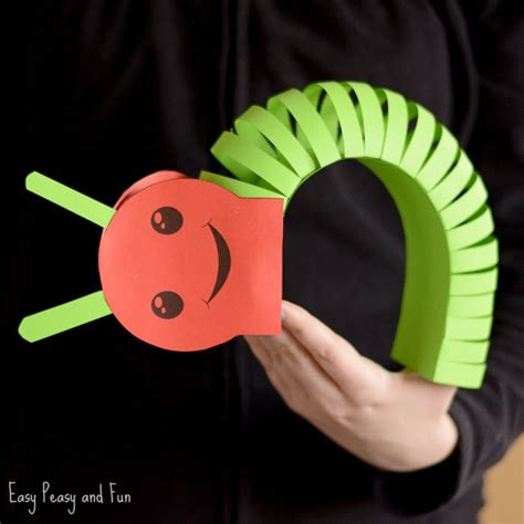 3d craft for 3d paper caterpillar craft with template easy peasy and