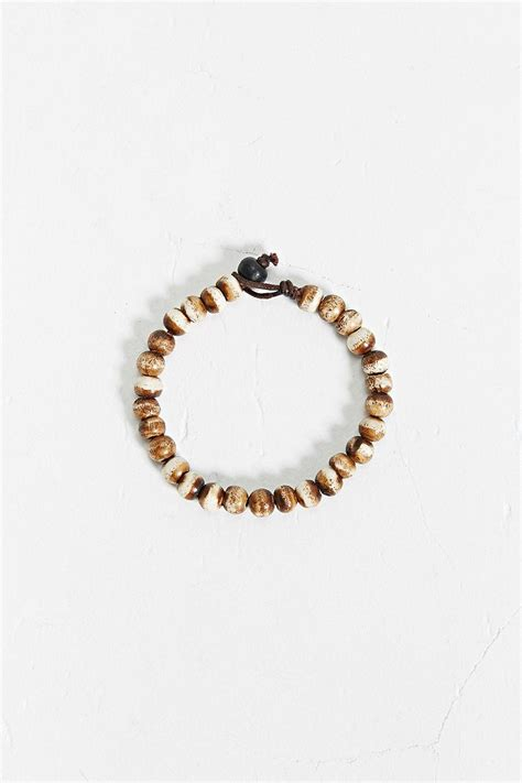 brown bead bracelet outfitters tiger bead bracelet in brown for lyst