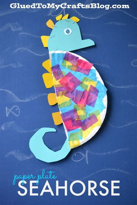 seahorse paper plate craft 17 best images about sea kindergarten on