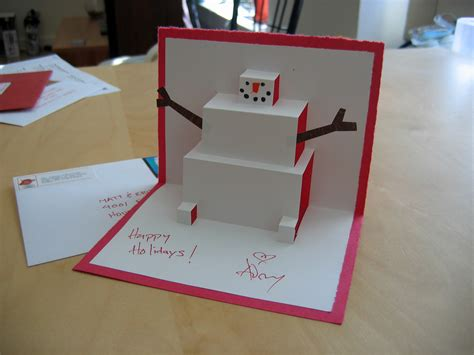 easy pop up cards for to make snowman pop up card pop up cards are easy to make