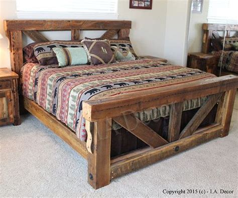 rustic bed frame plans best 25 bed frames ideas on diy bed frame