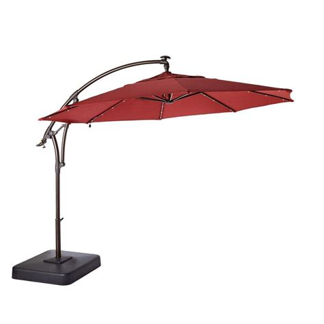 home depot patio umbrellas 11 ft led offset patio umbrella in yjaf052
