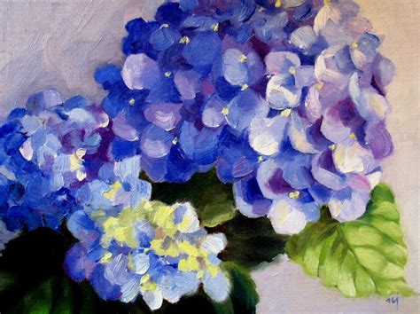 acrylic painting hydrangeas nel s everyday painting from a real hydrangea sold