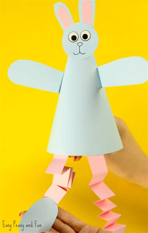 cone crafts for paper cone bunny craft easy peasy and