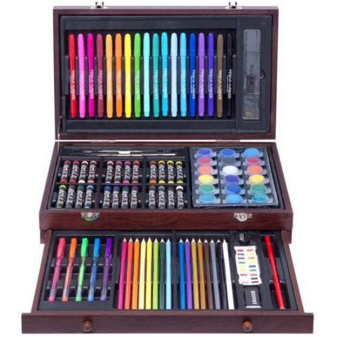 arts and craft sets for 101 102 budding artist wood set with drawer