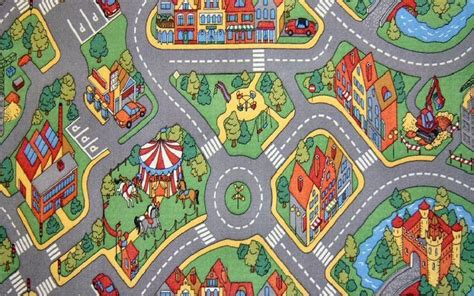 play rug with roads childrens play rug mat city roads non slip backing